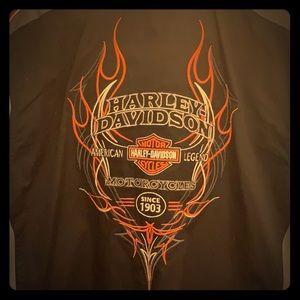 Harley-Davidson Men's Mechanic Shirt-SZ Large-NWT